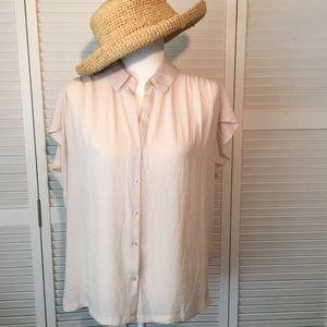 Ann Taylor Loft light and airy cap sleeve top.